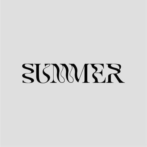 Summer is here ? Typography Quotes, Typography Inspiration, Typography Letters, Graphic Design Typography, Graphic Design Inspiration, Summer Typography, Vintage Graphic Design, Modern Typography, Type Design
