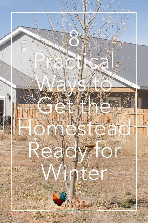 8 Practical Ways to Get the Homestead Ready for Winter