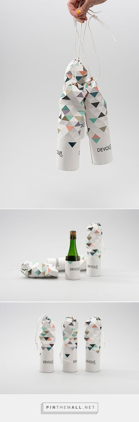 DEVOUT #Champagne #Concept #packaging designed by Jessica Sjöstedt - http://www.packagingoftheworld.com/2015/05/devout-champagne-concept.html
