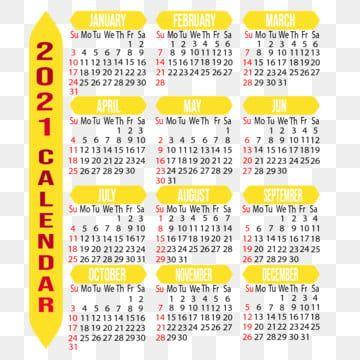 Calendrier 2021 Personnalisable, Année, Mois, Semaine Fichier PNG