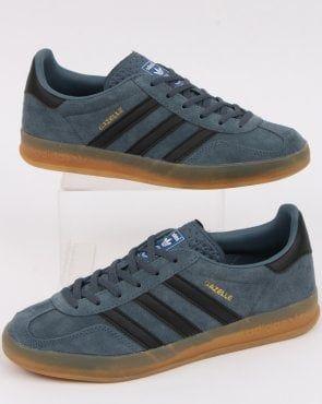 Adidas Gazelle Indoor Trainers Grey Black   Adidas gazelle, Adidas ...