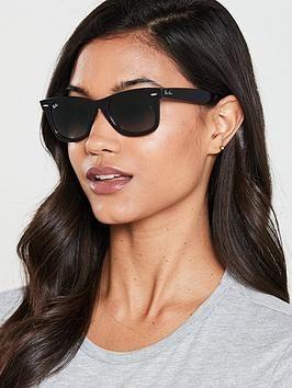 Ray Ban Wayfarer Sunglasses Tortoiseshell In Grey In 2020 Wayfarer Sunglasses Wayfarer Sunglasses Women Ray Ban Sunglasses Wayfarer