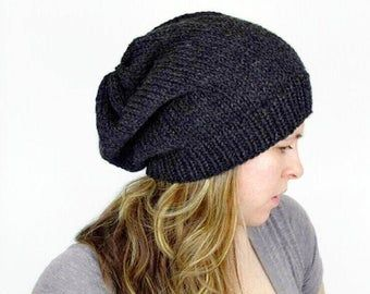 100/% Vegan Slouchy Knit Caps Beanie Hat for Mens Women