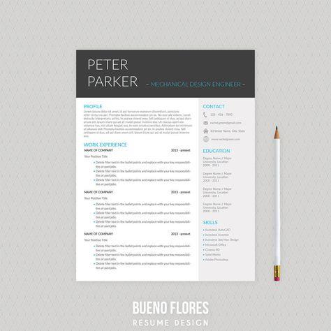 Resume CV by UX-group on @creativemarket Ready for Print Resume - mechanical designer resume