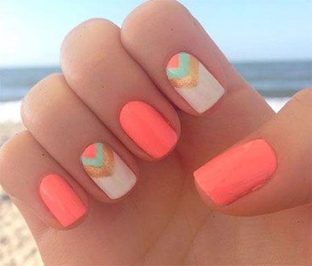 15 Simple Easy Summer Nails Art Design Ideas 2017 Nail Design Trend Nails Nail Designs Stylish Nails Art Stylish Nails