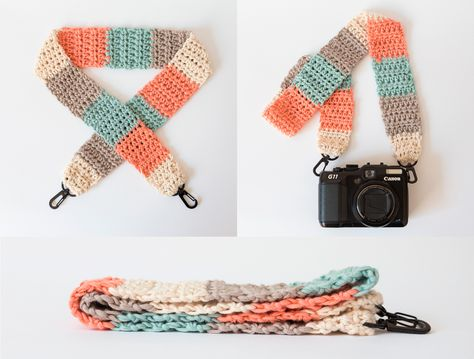How to crochet a cute camera strap We are want to say thanks if you like to shar. How to crochet a cute camera strap We are want to say thanks if you like to shar. Crochet Diy, Learn To Crochet, Crochet Crafts, Crochet Projects, Quilting Projects, Sewing Projects, Diy Camera Strap, Camera Rig, Camera Gear