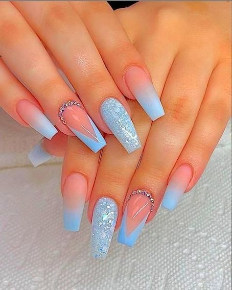 90 Long Acrylic Nails Design Ideas June 2020 – Sohotamess Bling Acrylic Nails, Simple Acrylic Nails, Best Acrylic Nails, Summer Acrylic Nails, Rhinestone Nails, Coffin Nails, Summer Nails, Spring Nails, Nail Designs Bling