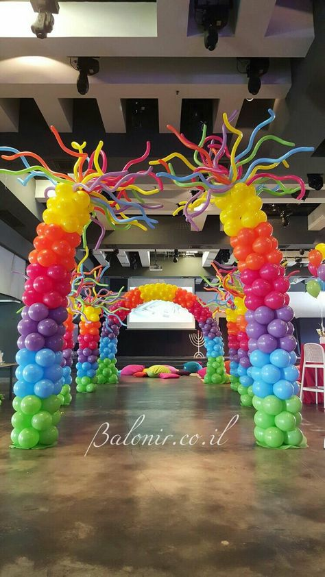 balloon Arch and columns!!!                                                                                                                                                      More
