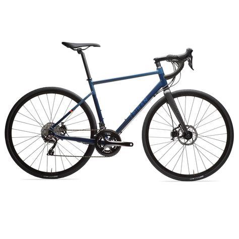 Triban Racefiets / wielrenfiets RC520 Shimano 105 met hydraulische schijfremmen blauw