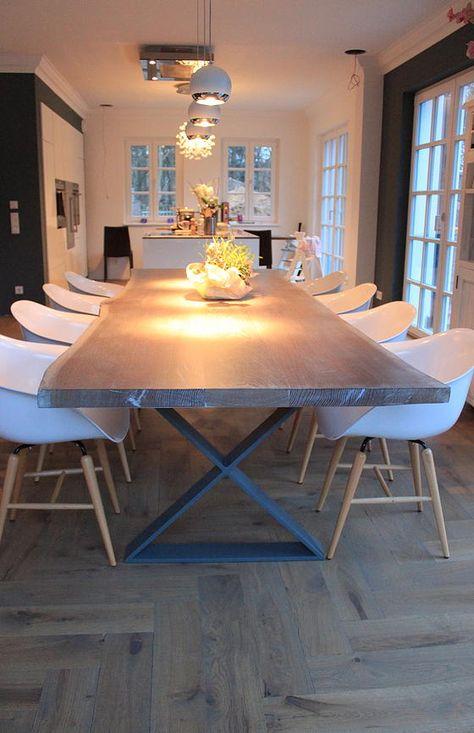 Massivholztisch Eichentisch Naturkante Naturholztisch Holztisch auf Maß
