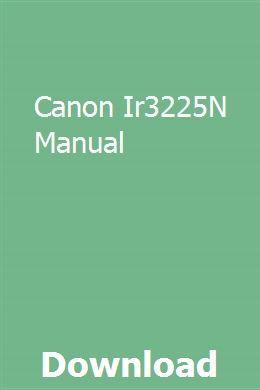 Canon Ir3225n Manual Exam Guide Study Guide Manual