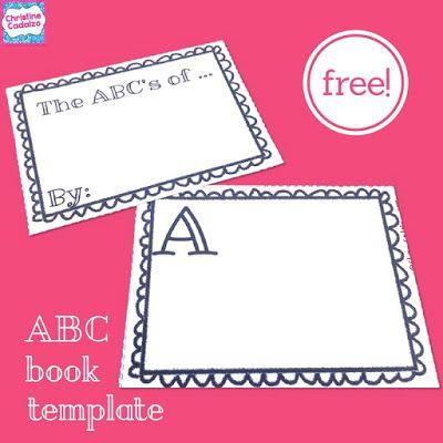 Free Abc Book Template Classroom Freebies Abc Book Template Abc Book Book Template