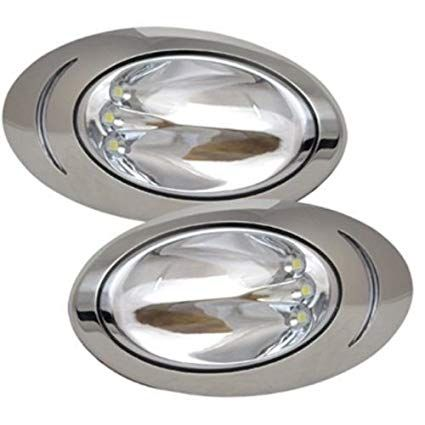Itc 1 Pair Marine Boat Led Hull Side Surface Mount Docking Lights 69389ss Led Navigation Lights Boat Led Marine Boat