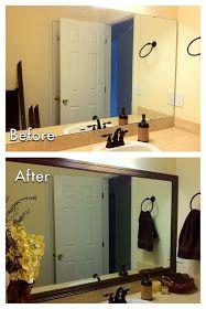 Charmant DIY Mirror Frame   Master Bathroom And Hall Bathroom