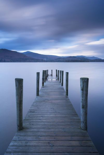 Print Of Wooden Jetty On Derwent Water In The Lake District Cumbria England Autumn November In 2020 Lake District Landscape Landscape Photography