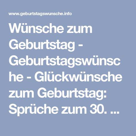 Spruche Zum 30 Geburtstag Gluckwunsche Zum 30 Geburtstag