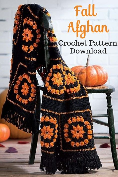 Love This Fall Afghan Crochet Pattern Download This Is Great For