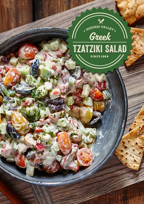 The fresh, light taste, combined with the creamy, rich flavor makes this salad… Lebanese Recipes, Greek Recipes, Veggie Recipes, Salad Recipes, Vegetarian Recipes, Cooking Recipes, Healthy Recipes, Ham Recipes, Pudding Recipes