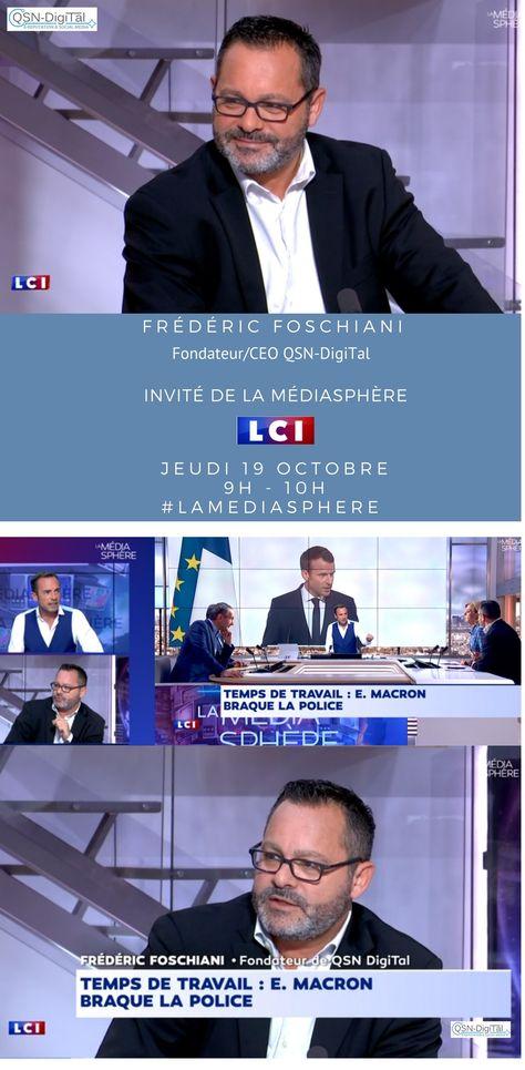 *Interview* / Frederic Foschiani,CEO de QSN-DigiTal, sur LCI – La Médiasphère