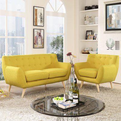 Langley Street Meggie 2 Piece Living Room Set Wayfair In 2020 Living Room Sets Modern Style Living Room Living Room