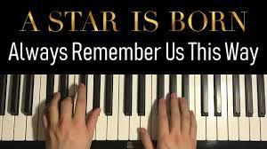 Chords Lady Gaga Always Remember Us This Way Piano Guitar