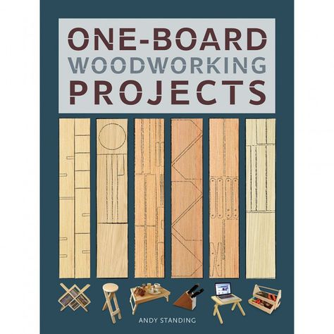 Who said that all woodworking projects have to be complicated? Check out this book of one-board woodworking projects for ideas on what to build using only a single piece of wood. Projects include a toy rocking chair, knife block, bookends and more.