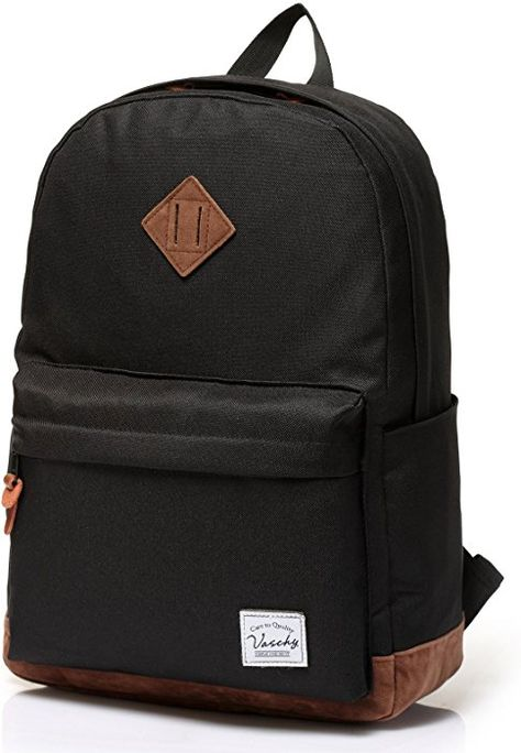 Amazon.com  Vaschy Unisex Classic Lightweight Water-resistant Campus School  Rucksack Travel BackPack Burgundy Fits 14-Inch Laptop  Clothing b2f49ecbec8a5