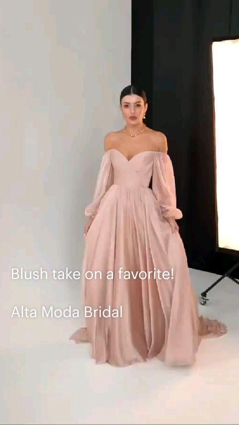 Blush take on a favorite!   Alta Moda Bridal