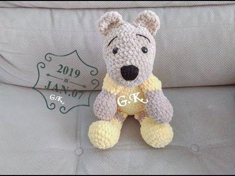 AMİGURUMİ SEVİMLİ AYICIK YAPIMI- Sweet Bear Crochet Pattern - YouTube   355x473