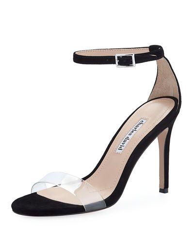 Women S Cristal Suede High Heel Sandals In Black Suede High Heels Dressy Sandals High Heel Sandals