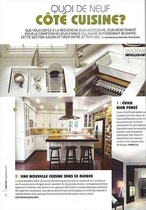 Cuisine Newzone In September S Issue Of The Chez Soi Cuisines Et Salles De Bain Magazine Cuisine Culinaire Salle