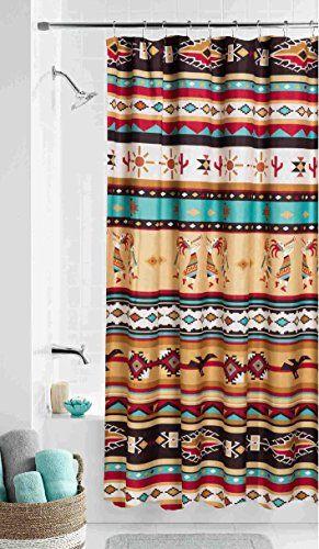 bath decor southwest shower curtain