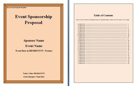 Sponsorship Proposal Template proposal Pinterest Proposal - charity sponsor form template