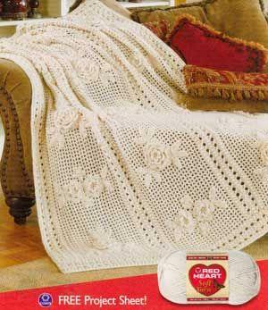 Flower Gardens Afghan | Free Crochet Afghan Pattern