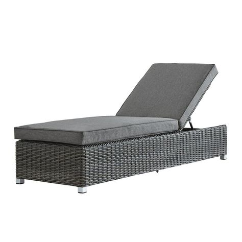 Phenomenal Homesullivan Camari Charcoal Wicker Adjustable Outdoor Pabps2019 Chair Design Images Pabps2019Com