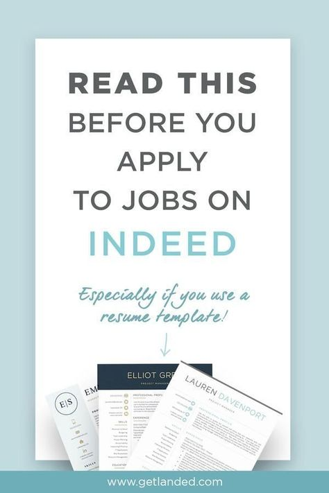 What You Need To Know About Applying To Jobs On Indeed In 2020 Job Resume Template Job Resume Job Search Motivation