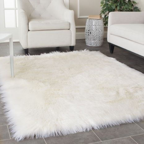 White Faux Fur Rug Fluffy