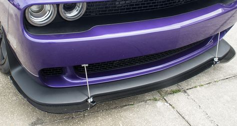 Dodge Challenger Hellcat Lip Spoiler w/Real Carbon Fiber Overlay. Dress up parts for Challenger, from American Car Craft.