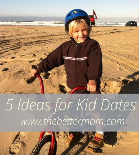 One-on-one time with our kids is a great time to get to know them and show them how important they are! Great ideas for kid dates!!