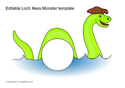 Editable Loch Ness Monster template (SB8832) - SparkleBox Uk - monster template