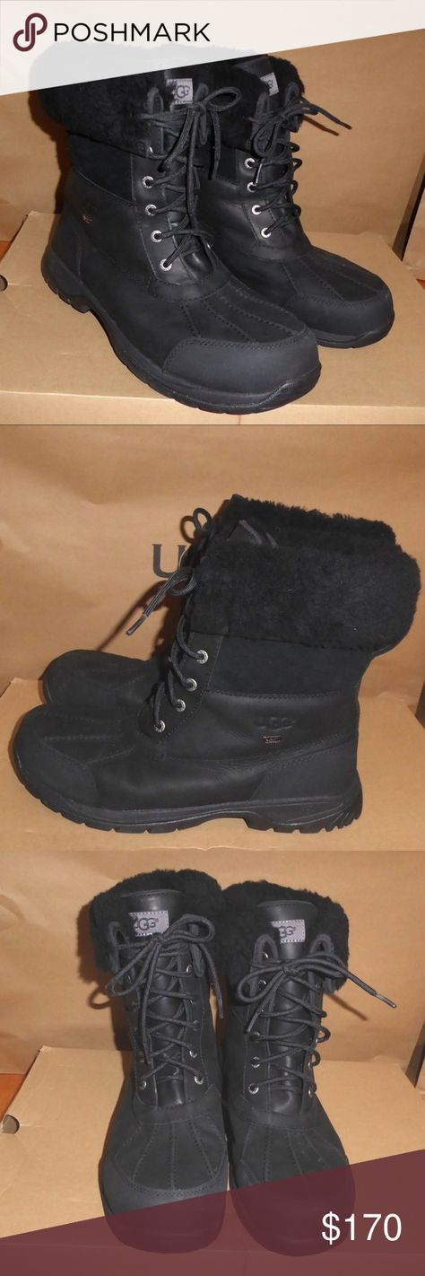 8f697f249a5 NEW UGG Butte Waterproof Leather Winter Boots Men's Butte Waterproof ...