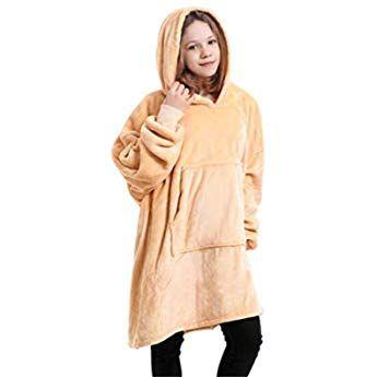 Grey Viviland Hoodie Sherpa Blanket Sweatshirt Soft Warm Plus Large Front Pocket Tv Blankets for Adult