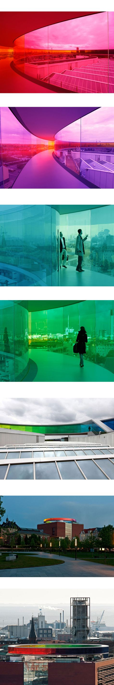 L'artiste dano-islandais Olafur Eliasson a créé une passerelle arc en ciel au Kunst Museum