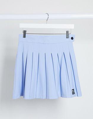Bershka Pleated Skirt In Blue In 2020 Skirts Pleated Skirt Pleated