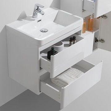 Ava Bathroom Furniture Milano Wall Hung Vanity Unit 600x420x500mm White Unique Bathroom Vanity Modern Bathroom Vanity Bathroom Vanity Bathroom modern vanity units milano