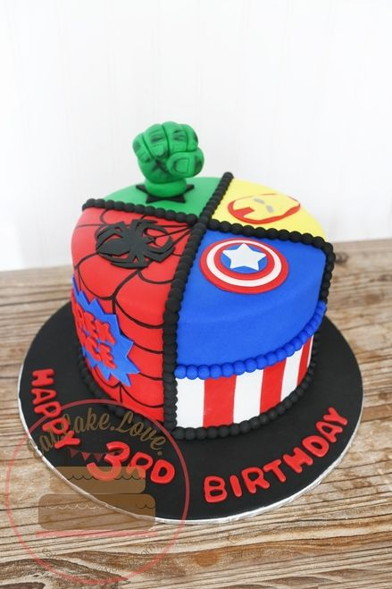 SuperHero CakeYou can find Superhero cake and more on our website. Avengers Birthday Cakes, Superhero Birthday Cake, 4th Birthday Cakes, Lego Superhero Cake, Birthday Star, Birthday Ideas, Hulk Cakes, Batman Cakes, Pastel Avengers