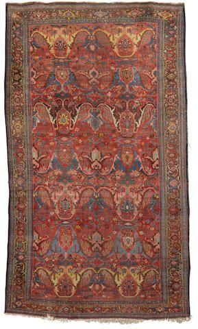 A Bidjar Carpet Persian Kurdistan 13 Ft 3 In X 7 Ft 10 In 403 X 238 Cm Wear Missing A Few Knots At One End Rugs On Carpet Carpet Persian