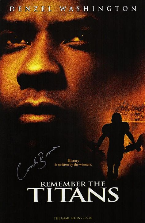Coach Herman Boone Signed 'Remember The Titans' 11x17 Movie Poster
