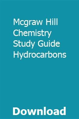 Mcgraw Hill Chemistry Study Guide Hydrocarbons Chemistry Study Guide Study Guide Study Chemistry