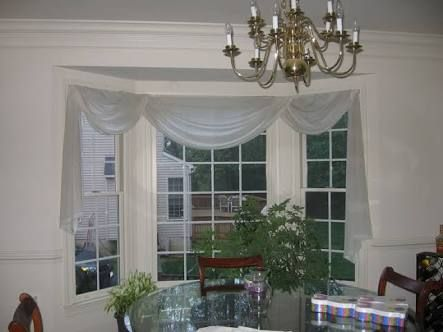 Image Result For Scarf Curtain Bay Window